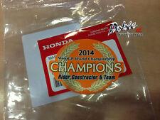 Honda 2014 2015 CBR1000RR Fireblade Repsol campeones del mundo de MotoGP Adhesivo Calcomanía
