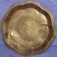 Vintage brass ornate serving tray