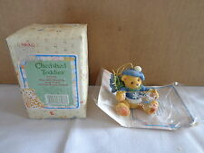 Cherished Teddies By Enesco CHRISTMAS Ornament BEAR SNOW FLAKES NEW nib 272175