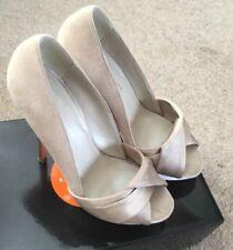 Karen Millen Patternless Satin Peep Toe Heels for Women