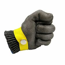 Size M Glove Safety Metal Cut Proof Stab Resistant Stainless Steel Mesh Cotton