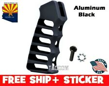 Guntec USA Black Ultralight Skeletonized Aluminum Anodized Grip w Screw & Washer