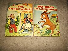 No-Good The Dancing Donkey & Three Wishes 1944 Rand Mcnally FREE SHIPPING