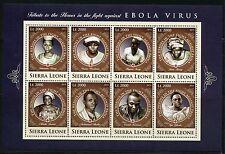 SIERRA LEONE 2016 TRIBUTE TO HEROES IN THE FIGHT AGAINST EBOLA  SHEET III MINT