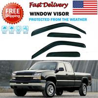 4x Sun/Rain Guard Vent Window Visor Shade For Chevy Silverado/GMC Sierra 1999-06