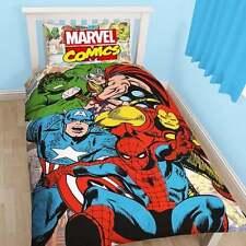 """MARVEL COMICS Avengers """"giustizia"""" Singolo Piumone & Cuscino Copertura Set-nuovi regali"""