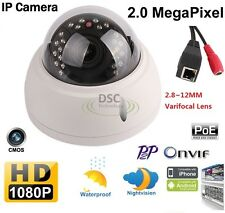 P2P H.264 2.0MP HD Surveillance Network Zoom IR Outdoor Dome POE IP Camera Onvif