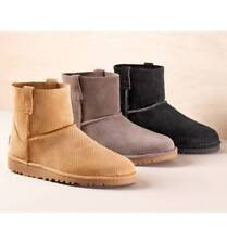 NEW  UGG Classic Unlined Mini Perforated Leather Boot Color TAW /Size 9