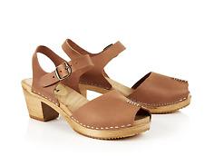 61d01b15e6 Nina Moheda for White Stuff Womens UK 3 EU 36 Tan Leather Stitch Clog  Sandals
