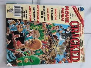 CRACKED MAGAZINE #233 JANUARY 1988 ROBOCOP PREDATOR SUPERMAN JAMES BOND