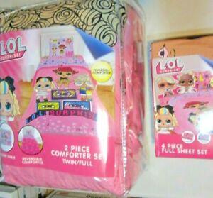 LOL Surprise Soft Remix Twin/Full Comforter Sham Full Sheets 6 Pc Bedding NEW!