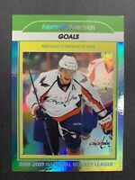 2009-10 O-Pee-Chee 08-09 NHL Goals Leader #SL2 Alex Ovechkin Washington Rainbow