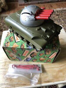 Vintage Tri Ang Minic Toys Tank In Original Box