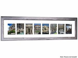 CPF - 8 Opening 10x40 Glass Face Driftwood Frame Holds 4x6 Photos
