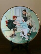 "Norman Rockwell's ""Home From Camp"" Plate by The Edwin M. Knowles China Co."