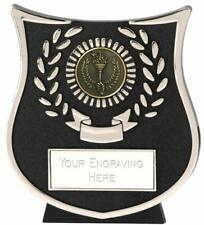 Emblems-Gifts Curve Silver Victory Torch Plaque Trophy With Free Engraving