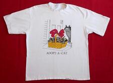 VINTAGE T SHIRT 80's B Kliban ADOPT A CAT Hawaiian Humane Society 100% DONATION