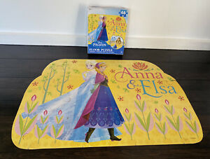 Disney Elsa Anna 46 piece large floor puzzle girls toy games jumbo toddler easy