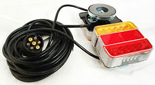 Magnetic LED Trailer Towing Lightboard Lights 7.5 Metre Cable Lamps Cluster