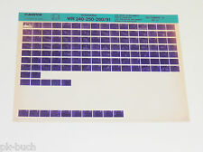 Microfich Teilekatalog Husqvarna WR 240 - 250 - 260 Modell 1991 - Stand 09/1990!