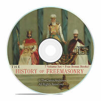 The History of Freemasonry, 7 Volumes, Freemason Lodge Arcane History on CD V38