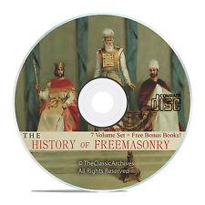 The History of Freemasonry, 7 Volumes, Freemason Lodge Arcane History on CD V38