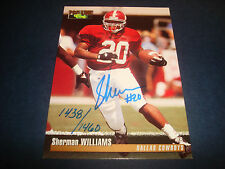 Sherman Williams Cowboys Alabama 1995 NFL Classic Signed Authentic Autograph A9