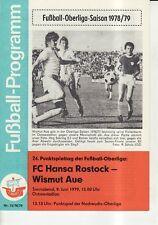 BSG Sachsenring Zwickau OL 80//81  FC Hansa Rostock