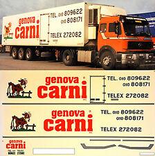 MERCEDES BENZ Genova Carni Italy (I) 1:87 ADHESIVO PEGATINA Camión