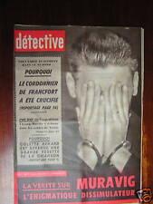 Détective 1959 colette renard WESTMALLE Errol Flynn