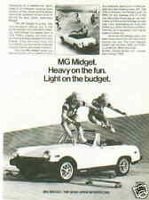New listing 1978 Mg Midget *Original Vintage Ad* Heavy On Fun