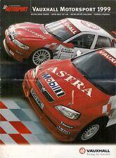 Vauxhall Motorsport Supplement 1999 UK Brochure Autosport Astra Vectra