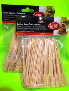 "TableCraft BAMP35G Bamboo 5"" Gluten Free Paddle Pick * NEW * (2 Packs) 200 Picks"