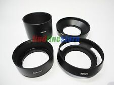 39mm standard telephoto wide angle vented curved metal lens hood kit set 4pcs
