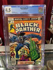 Black Panther #4 CGC 4.5 NEWSSTAND, Marvel Comic 1977