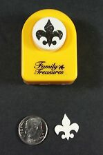 Small Fleur De Lis Paper Punch Family Treasures Button Style Cards Scrapbooking