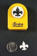 Small Fleur De Lis Paper Punch Family Treasures Button Style Cards Scrapbooking