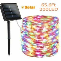Outdoor Solar String Light 200 LED Copper Wire Fairy Light Garden Decor Colorful