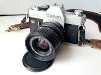 Canon FTB SLR Camera with 35-70mm Zoom Lens