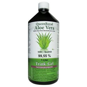 QueenRoyal Aloe Vera Trink Gel 99.55% pur 1 Liter Flasche. 30255-G