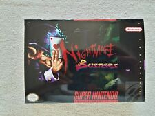SNES Nightmare Busters, Custom Art case only, no game included