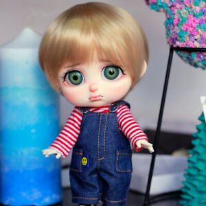 New clothes Hair shoes For 1/8 BJD Doll Dollbom Pitty