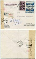 GREECE 1938 EXAMINED ENVELOPE to GERMANY JACQUES NEUMANN REGISTERED