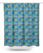 S4Sassy Brown Austin Rose Floral Waterproof Bathroom Shower Curtain-pqJ