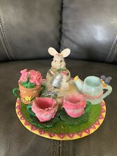 Miniature Easter Bunny- Spring Tea Set, 10 Pc., EUC