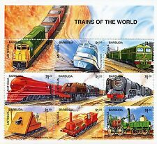 Antigua & Barbuda 1995 MNH Trains of World 9v M/S Railways Züge Treni Stamps