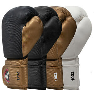 RingMaster Boxing Gloves Training Sparring Punch Mitts Bag MMA Fight Martial Art