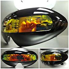 SPACE ROBOT PARTY RAVE COSTUME DJ CYCLOPS FUTURISTIC SHIELD SUN GLASSES Black