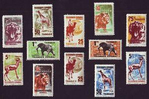 Tanger 1955-1957 Animals/ Fauna/ Telegraph stamps ** MNH complete set (12v)