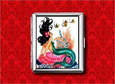 MERMAID PIN UP GIRL VINTAGE FISH 3 METAL WALLET CARD CIGARETTE ID IPOD CASE